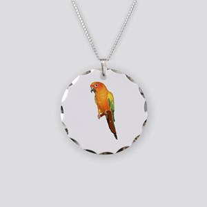 Sun Conure Necklace Circle Charm