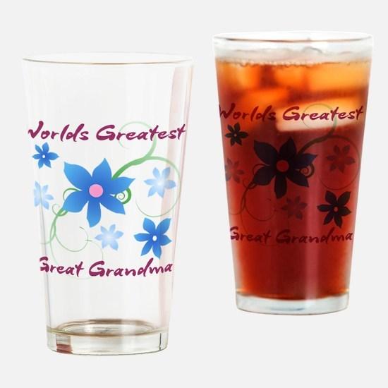 World's Greatest Great Grandma (Flo Drinking Glass