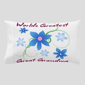World's Greatest Great Grandma (Flower Pillow Case