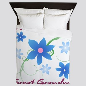 World's Greatest Great Grandma (Flower Queen Duvet