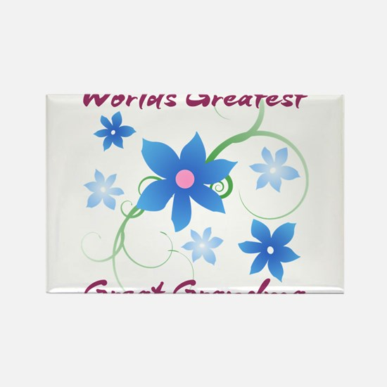 World's Greatest Great Grandma (Flowery) Magnets