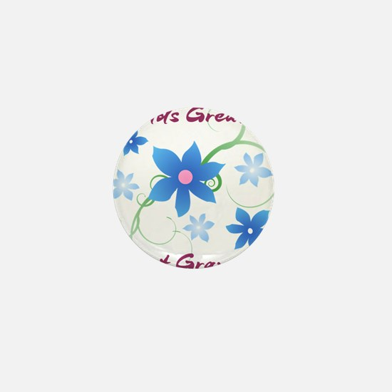 World's Greatest Great Grandma (Flower Mini Button