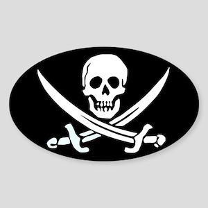 Calico Jack's Flag Oval Sticker