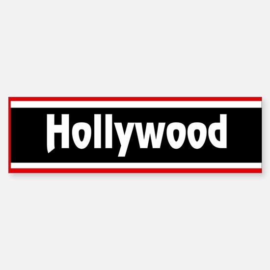 Hollywood Bumper Bumper Bumper Sticker