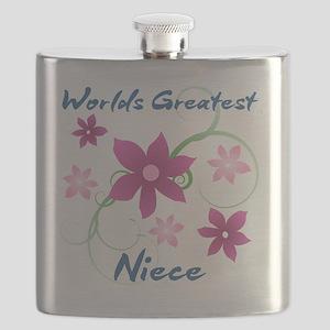 World's Greatest Niece (Flowery) Flask