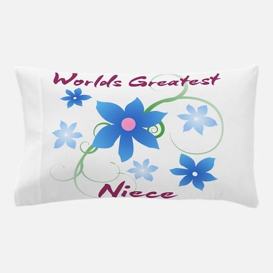 World's Greatest Niece (Flowery) Pillow Case