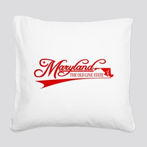 Maryland State of Mine Square Canvas Pillow