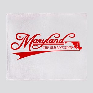 Maryland State of Mine Throw Blanket