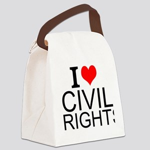 I Love Civil Rights Canvas Lunch Bag