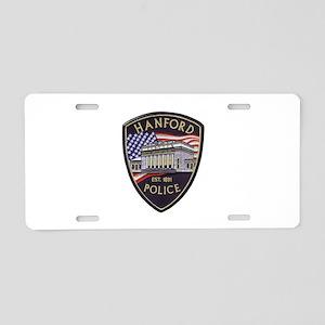 Hanford Police Aluminum License Plate
