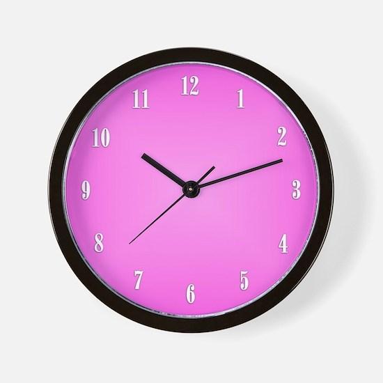 Pink Wall Clock Wall Clock