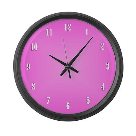 Pink Wall Clock Large Wall Clock