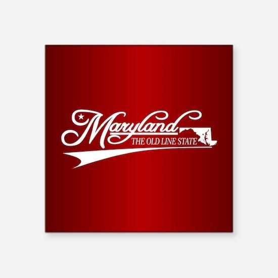 Maryland State of Mine Sticker