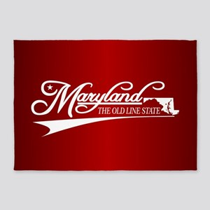 Maryland State of Mine 5'x7'Area Rug