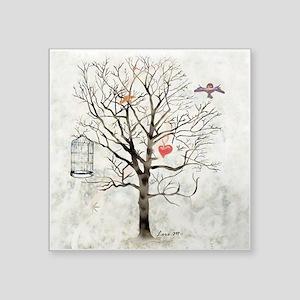 Winter And Heart - Sticker