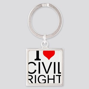 I Love Civil Rights Keychains