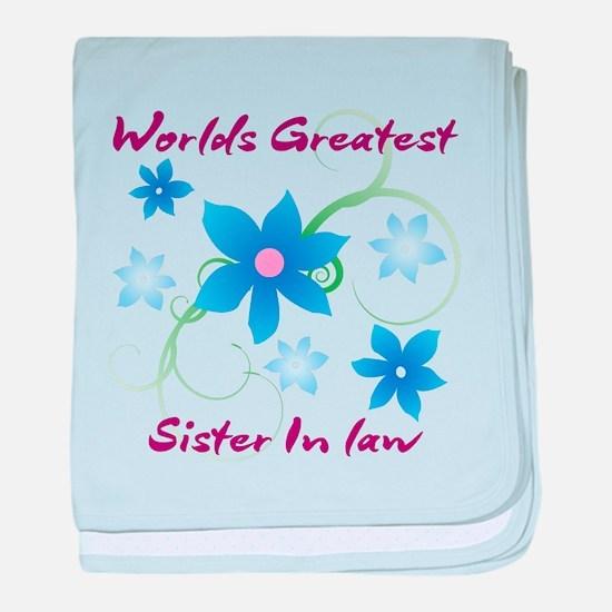 World's Greatest Sister-In-Law (Flowe baby blanket