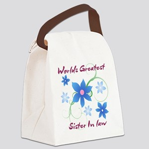 World's Greatest Sister-In-Law (F Canvas Lunch Bag