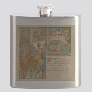The Man That Please None - Aesop 1887 Flask