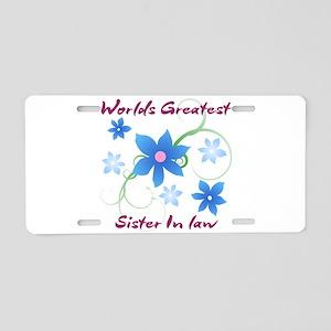 World's Greatest Sister-In- Aluminum License Plate