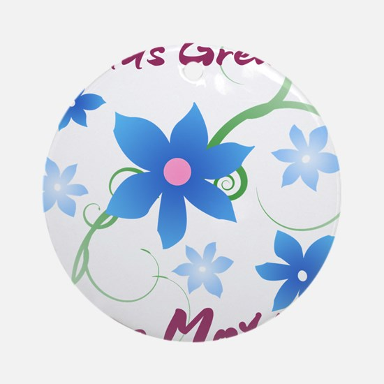 World's Greatest Step Mother (Flo Ornament (Round)