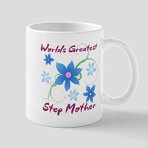 World's Greatest Step Mother (Flowery) Mugs