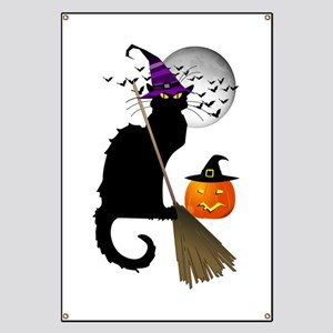 Le Chat Noir - Halloween Witch Banner