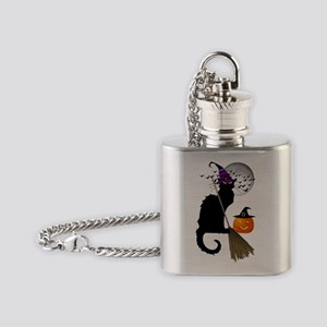 Le Chat Noir - Halloween Witch Flask Necklace