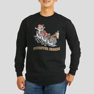 Roller Coaster Junkie Long Sleeve Dark T-Shirt