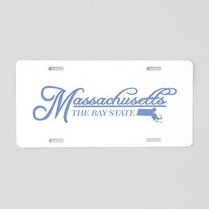 Massachusetts State of Mine Aluminum License Plate