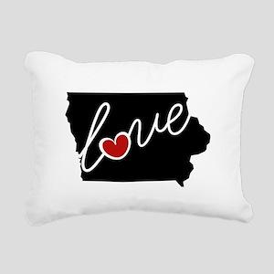Iowa Love Rectangular Canvas Pillow