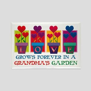Grandma's Garden Rectangle Magnet