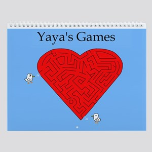 Yaya's Games Wall Calendar