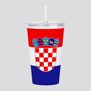 Croatia Flag Acrylic Double-wall Tumbler