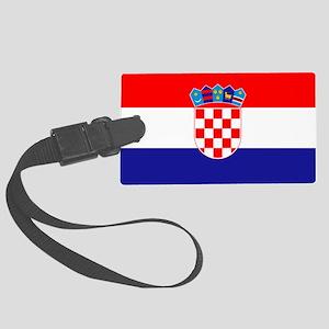 Croatia Flag Large Luggage Tag