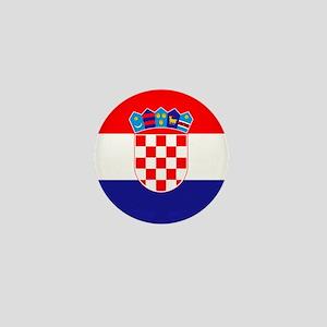 Croatia Flag Mini Button