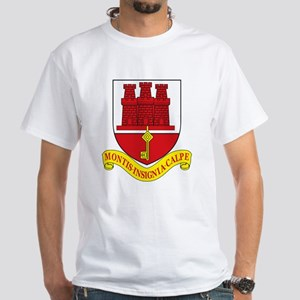 Gibraltar Coat of Arms White T-Shirt