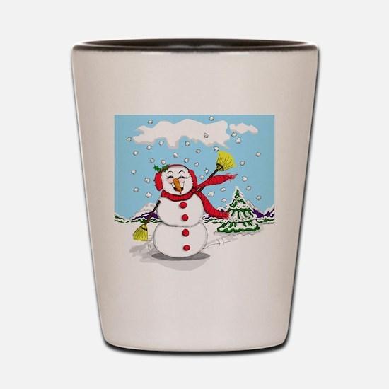 snowman-2.png Shot Glass