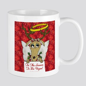 Vegan Reindeer Angel Mugs