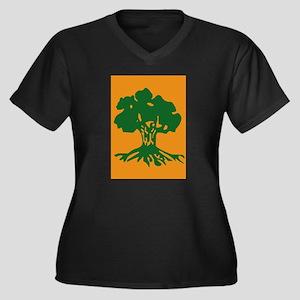 Golani-Briga Women's Plus Size V-Neck Dark T-Shirt