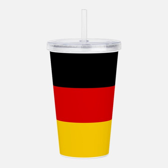 Germany Flag Acrylic Double-Wall Tumbler