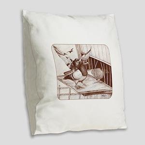 Homecoming Homers Burlap Throw Pillow