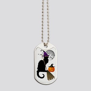 Le Chat Noir - Halloween Witch Dog Tags