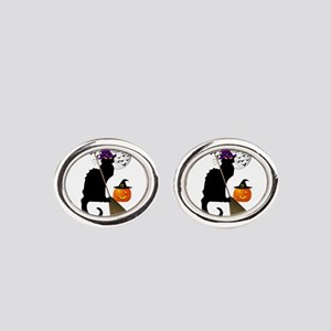 Le Chat Noir - Halloween Witch Oval Cufflinks