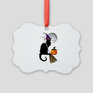 Le Chat Noir - Halloween Witch Picture Ornament