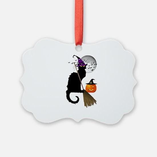 Le Chat Noir - Halloween Witch Ornament
