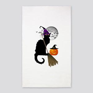 Le Chat Noir - Halloween Witch 3'x5' Area Rug