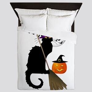 Le Chat Noir - Halloween Witch Queen Duvet