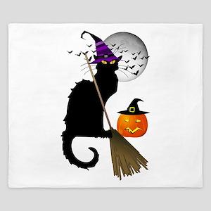 Le Chat Noir - Halloween Witch King Duvet