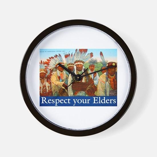 RESPECT YOUR ELDERS Wall Clock